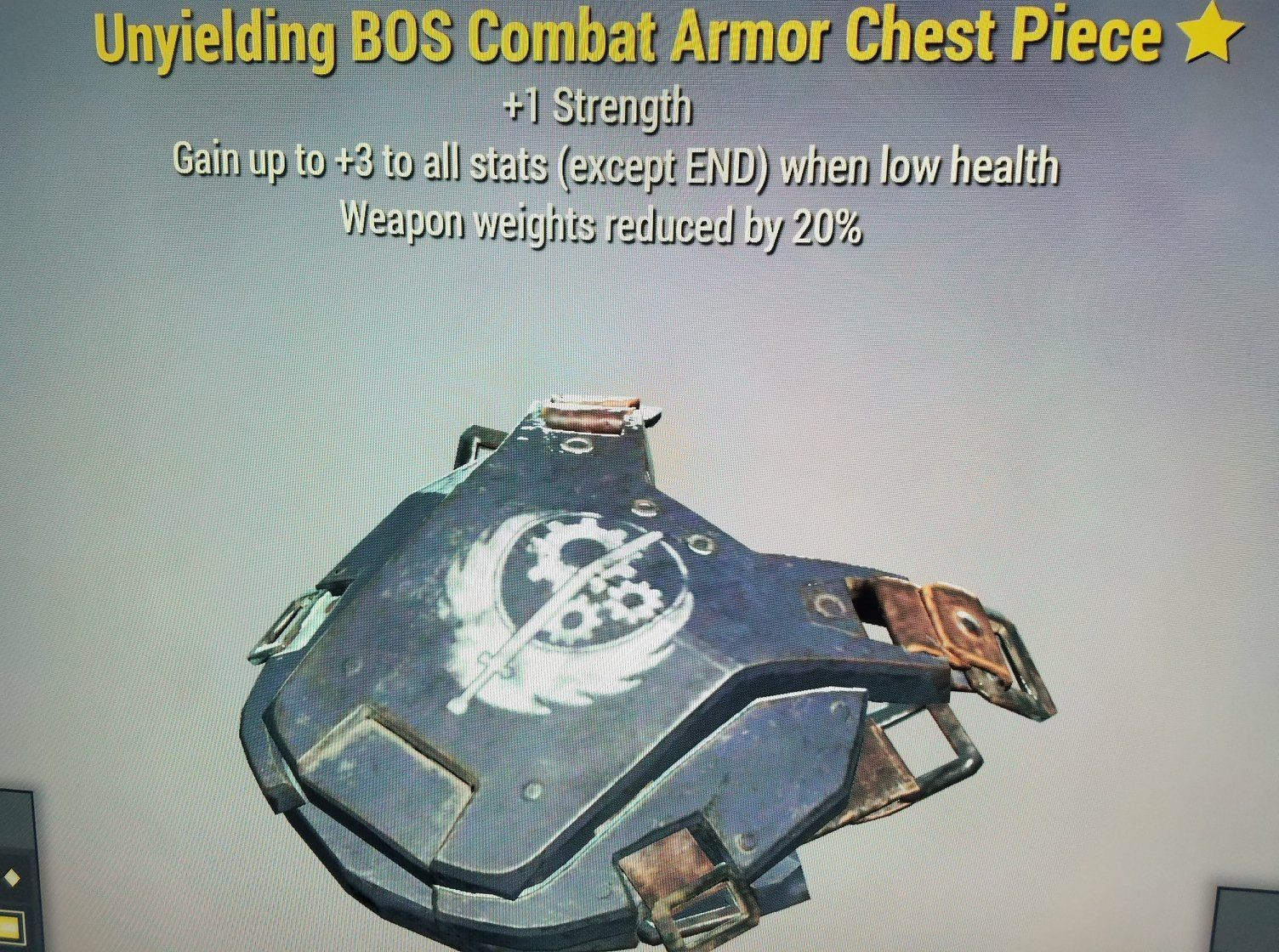 WW Reduction Unyielding BOS Combat Armor Chest Pie