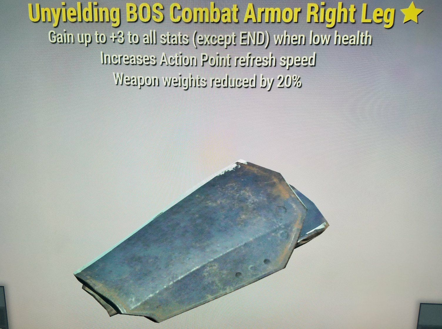 WW Reduction Unyielding BOS Combat Armor Right Leg